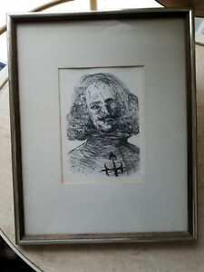 Details about Vintage SALVADOR DALI Velazquez Spanish Immortals Etching  Collectors Guild Print