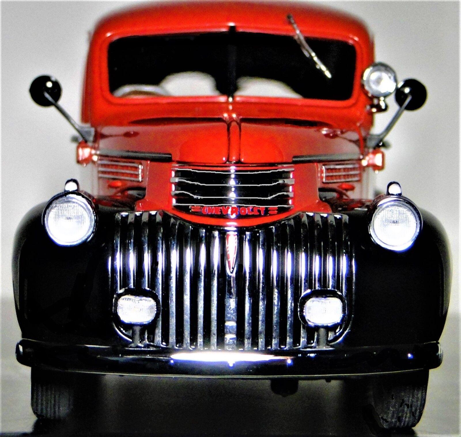 Camión Chevy 1 Pickup 1940 24 Chevrolet construido 18 Modelo de Coche Vintage Antiguo Nomad
