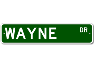 Personalized Last Name Sign WAYNE Street Sign