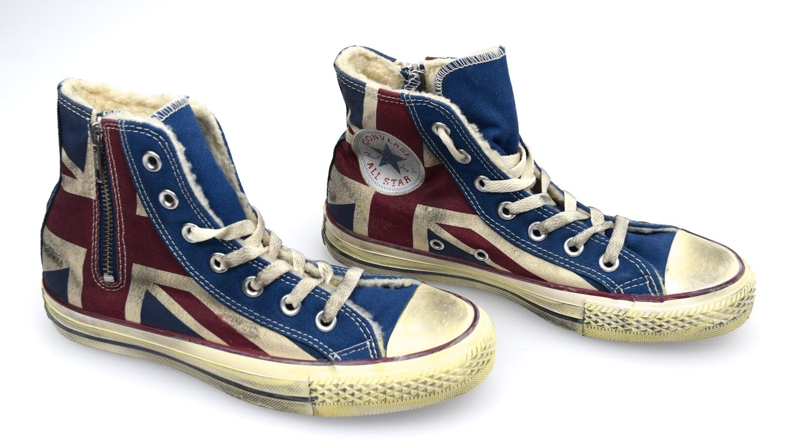 CONVERSE VINTAGE ALL STAR DONNA SCARPA SNEAKER BANDIERA INGLESE VINTAGE CONVERSE ART. 1C503 1ed419