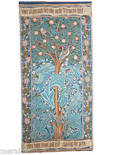 'WOODPECKER WITH VERSE' French Woven Tapestry Wall Hanging William Morris 40x19""