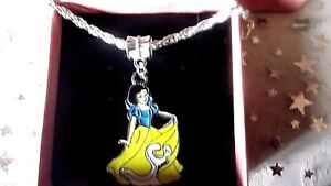 SNOW WHITE PRINCESS NECKLACE 16 INCH STRONG SILVER PL] GIFT BOX,BIRTHDAY PARTY