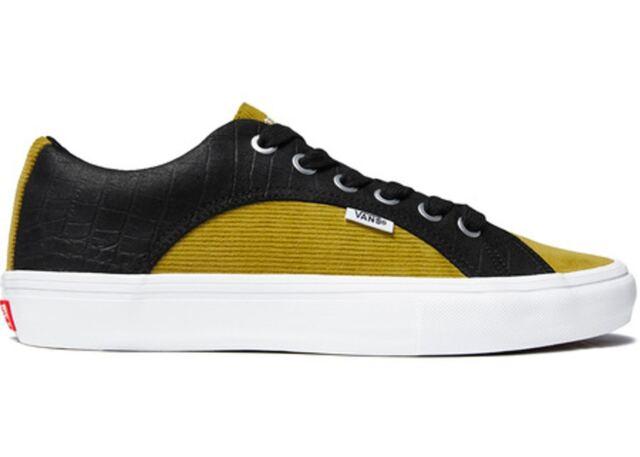 Supreme Vans Lampin Pro Croc Corduroy Size 12 Black Mustard Brand New