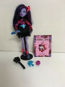 Monster-High-GLOOM-amp-BLOOM-JANE-BOOLITTLE-11-034-Doll-and-Accessories-Complete-EUC