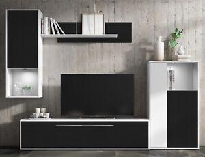 Mueble de salon comedor modulos estilo moderno color negro y blanco ...