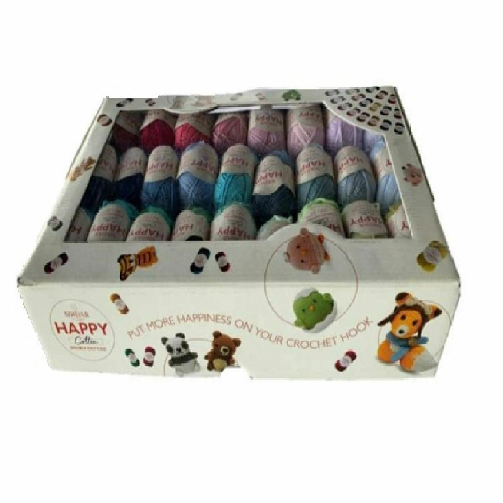 Sirdar Happy Cotton Gift Box 50 shades £42.99  RRP 49.99 OUR PRICE