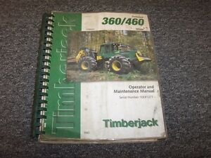 Details about Timberjack 360 460 Cable Skidder Owner Operator Maintenance  Manual Book F296047