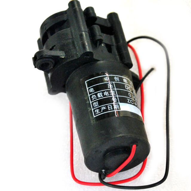 ZC-A210 24V Mini Plastic Water Pump Self-Sucking Gear Pumps (0-100℃)