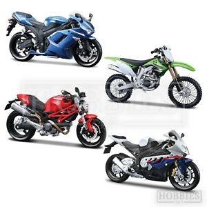 Maisto-Model-Motorbikes-Kits-1-12-Die-Cast-BMW-Ducati-Kawasaki-Build-Your-Bike