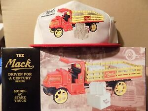 25-Mack-Stake-Truck-with-hat-First-Gear-MINT-1st