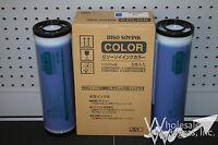 2 Genuine Riso S-4388 Blue Ink Risograph Gr Rc Ra Fr Rp Rn Rp3700 Gr3750