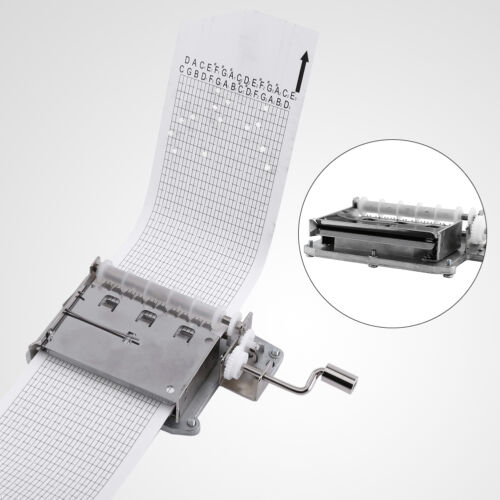 Handkurbel Spieluhr Bewegung 15Note Loch Puncher 20 Papierstreifen DIY Your Song