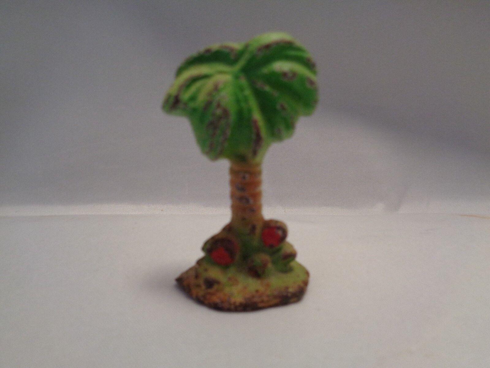 Antiguo Rara Miniatura Hierro Fundido Palmera