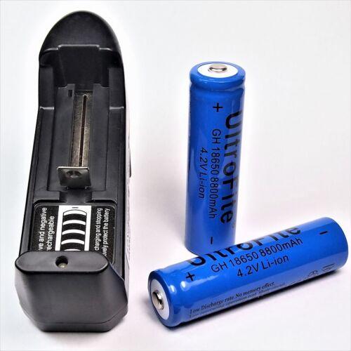 8800 mA 1 x 4,2 V Ionen Ladegerät 18650 Li-Ion Akku /& Universal Lithium