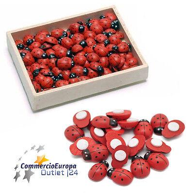 30 coccinelle in legno adesive per confezioni regalo regali fiori hobby