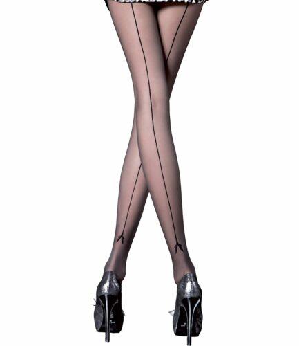 Fiore Miriam Feinstrumpfhose Damen elegante Damenstrumpfhose MIT NAHT 20 den