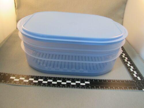 Tupperware Frischekabinett 1 x 700 ml 1 x 1,6 l mit Gitter Deckel