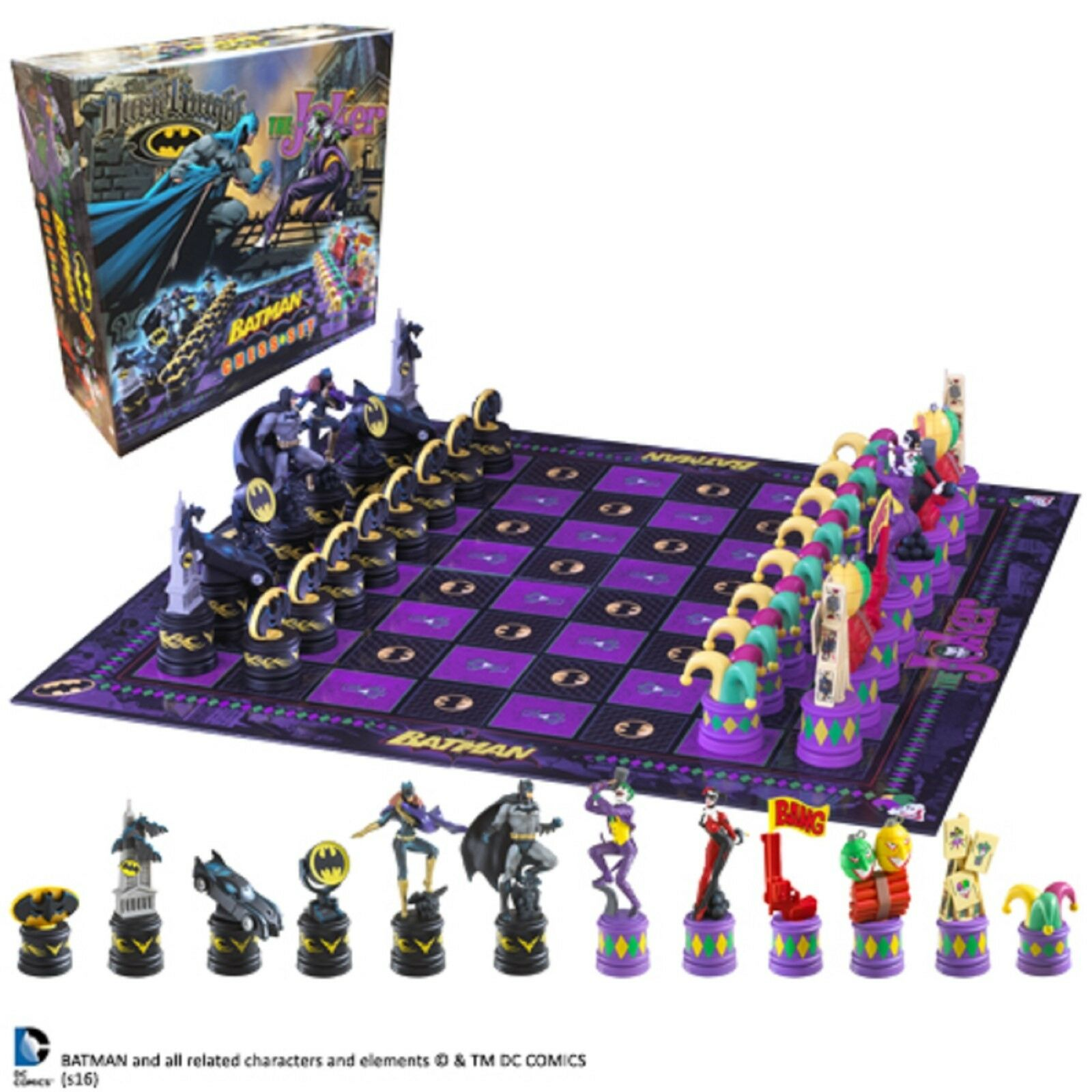 Batman Joker Chess Set DC Comics Official Including Storage Bags Board Game