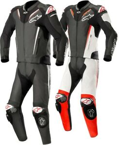 Alpinestars-Atem-V3-dos-piezas-Hombre-Traje-Cuero-Deportes-de-motociclismo