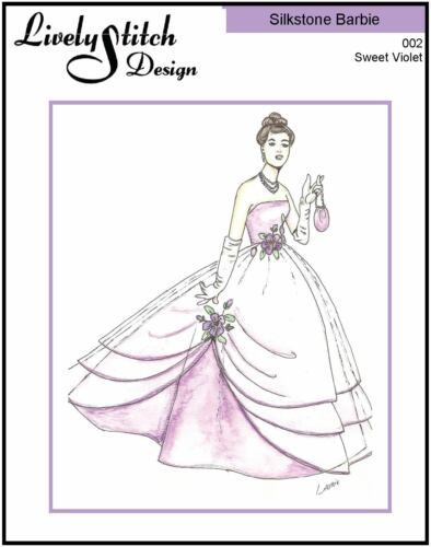 Sweet Violet sewing pattern for the Silkstone Barbie doll