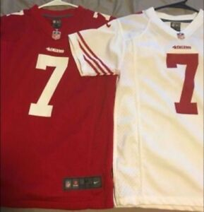 pretty nice b1bea 45fb4 Details about Authentic Nike San Francisco 49ers Colin Kaepernick NFL  Jersey Youth Medium Boys