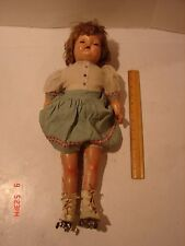 VINTAGE DOLL COMPOSITION ARMS LEGS TEETH OPEN MOUTH ROLLERSKATES RESTORE REPAIR