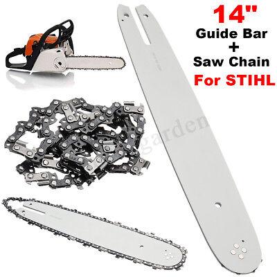 35cm Schiene 3//8P 2 Ketten für Stihl 018 MS180 MS 180 guide bar chain