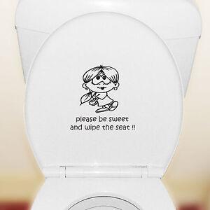 Please Be Sweet Toilet Seat Or Cistern Wall Art Vinyl Bathroom Sticker Decal Ebay