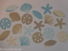"20 assortment of sea shells  1"" - 2"" die cuts  scrapbook die cut"