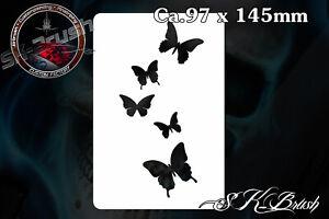 Minis-Schmetterlinge-Airbrush-Schablone-Stencil-Butterfly
