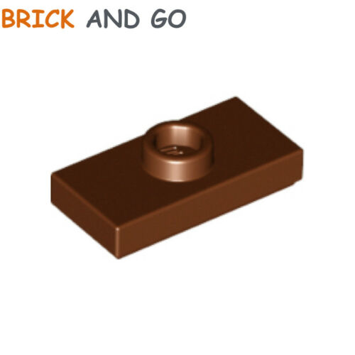 marron, brown 8 x LEGO 15573 Plaque Tenon Plate 1x2 With 1 Stud NEUF NEW