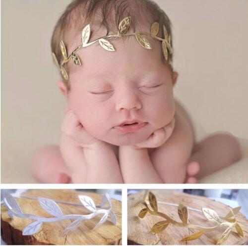 Girl Baby Newborn /& Mama Set Headband Hair Band Olive Leaf Photo Prop