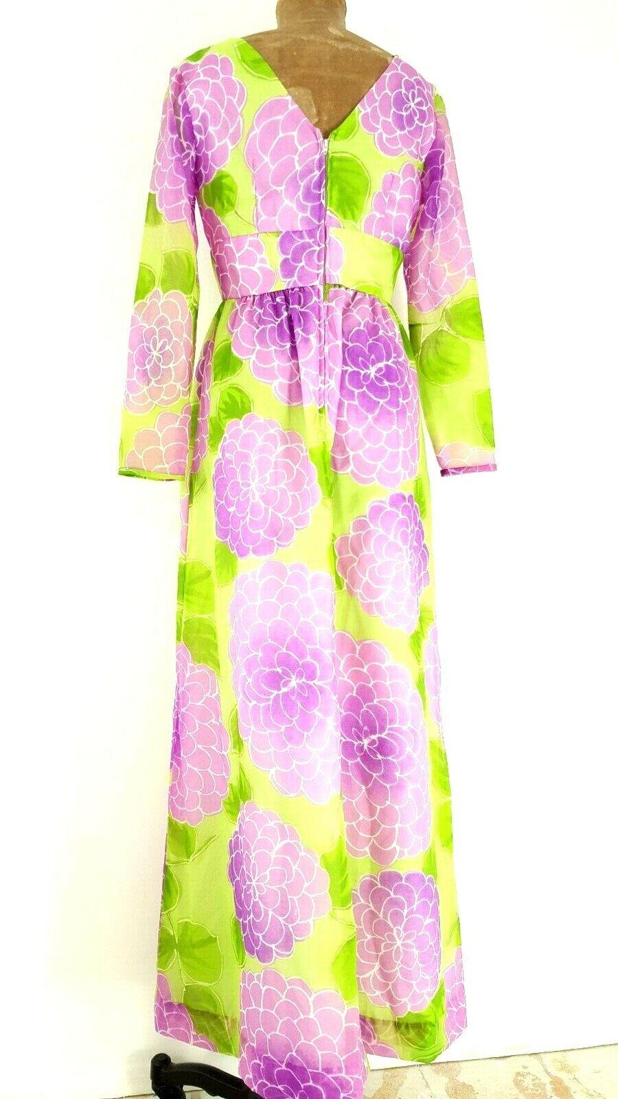 Vintage 60s Malia Honolulu Dress Size Medium Empi… - image 6
