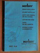 Ersatzteilliste Weber VC 14 Verdichter Rüttelplatte Spare Parts List Listino