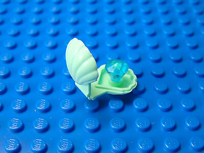 LEGO-MINIFIGURES SERIES CITY X 1 LIGHT GREEN SHELL AND BLUE GEM PARTS