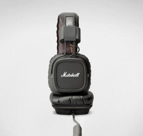 MARSHALL MAJOR II  HEADPHONES MIC QUALITY SUPPORTS HIGH RESOLUTION AUDIO BLACK