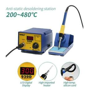 YiHUA-939D-60W-SMD-Rework-Solder-Soldering-Station-Desoldering-w-Iron-Stand