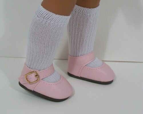 """LT PINK Snazzy Doll Shoes For 14/"""" American Girl Wellie Wisher Wishers Debs"""