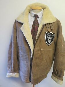 Vintage-B3-Real-Shearling-Sheepskin-Bomber-Aviator-Leather-Jacket-L-44-034-Euro-54