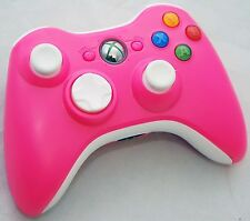 Official Microsoft XBox 360 PINK/White Wireless Controller game gaming hand oem