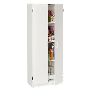 Image Is Loading White Two Door Kitchen Utility Cabinet Storage Pantry