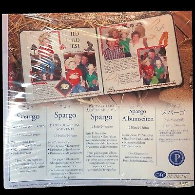 """7/""""x7/"""" buy only what you need Creative Memories 7x7 scrapbooking Spargo Pages"""