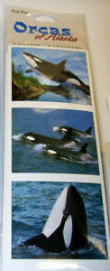 Acid-Free-Alaska-Theme-Stickers-Orca-Killer-Whales-great-collectible-sticker