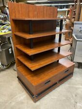 Ucd Wood 415 Brown Bakery Retail Store Display Candy Fixture Shelf Withdrawers