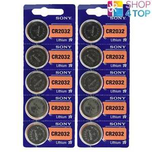 10-Sony-CR2032-Batteries-Au-Lithium-3-V-Coin-Cell-DL2032-EXP-2028-NEUF