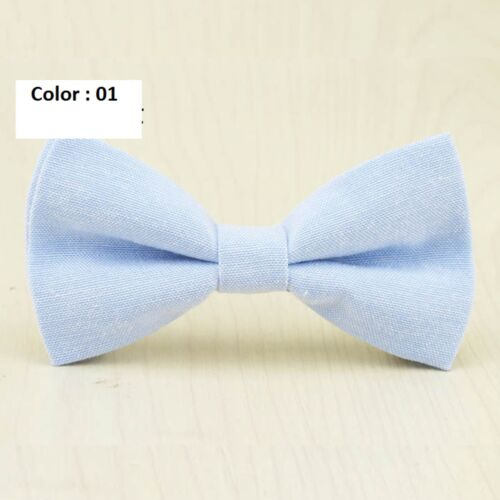 Kids boys Children fashion adjustable butterfly candy colors cotton bow tie