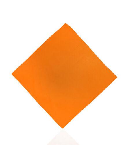 Bandana Orange Kopftuch Halstuch Nickituch Bikertuch Motoradtuch Handtuch Tücher