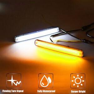 2x-LED-Feux-diurne-Fog-DRL-Indicateur-de-clignotant-sequentiel