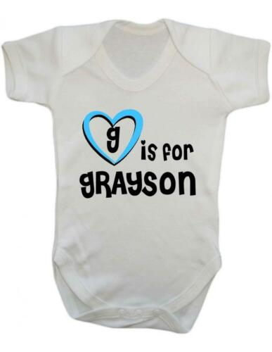 Playsuit Grayson Baby Bodysuit G Is For Grayson Baby Vest