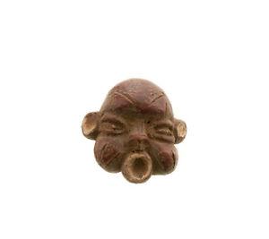 Statuetta Fetish Grigri Tikar Africano IN Terracotta 766